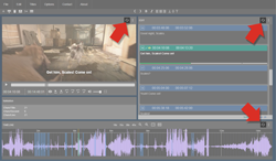 thumbnail of the sync buttons of subtitle editor